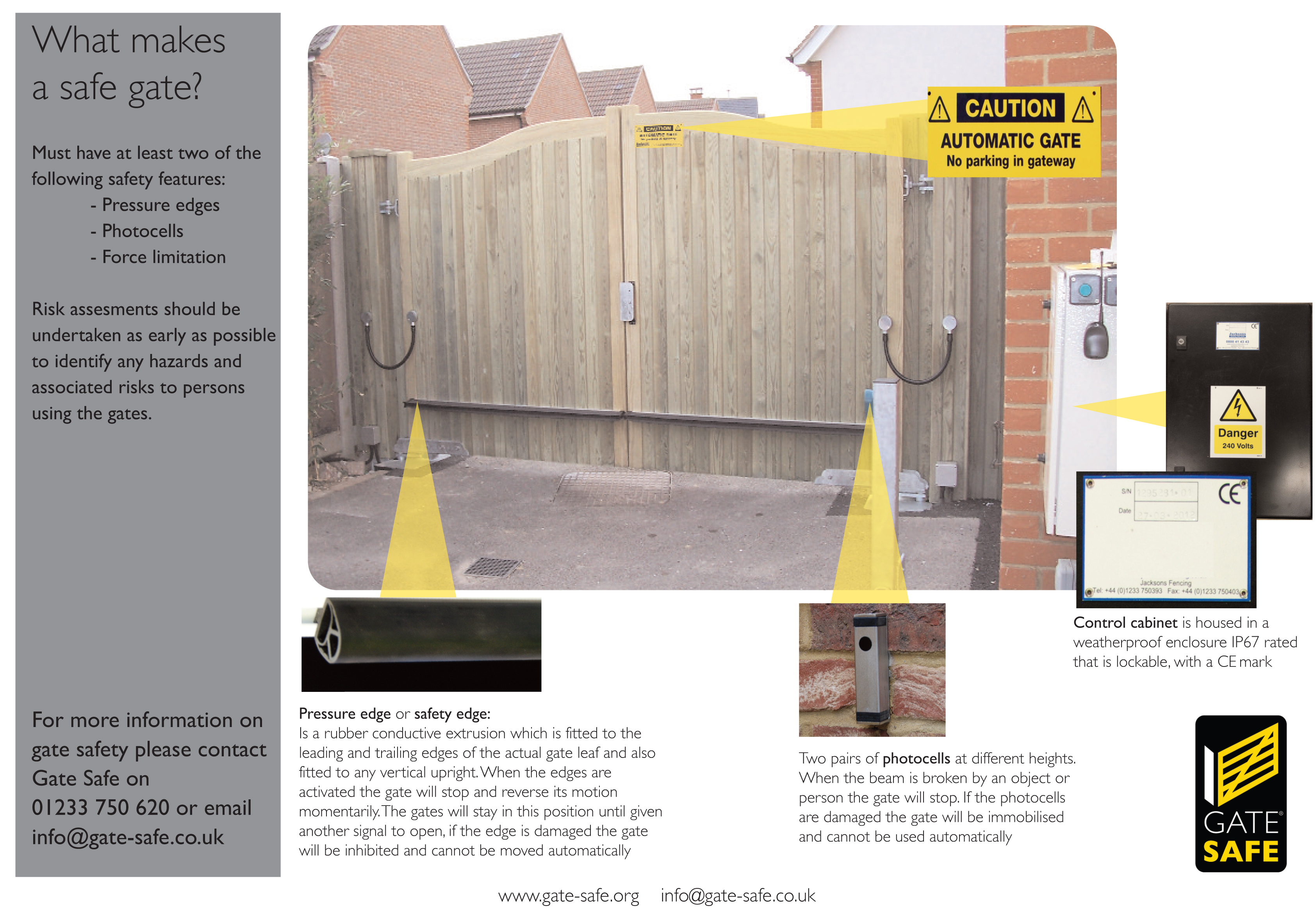 Help And Advice For Industry Professionals Involved In Automated Gates Gate Switch Wiring Diagram Together With Electric The Infographic Below Shows Visually What Is Required To Make A Safe